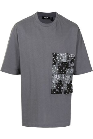 FIVE CM Homem T-shirts & Manga Curta - Paisley-print patchworkT-shirt