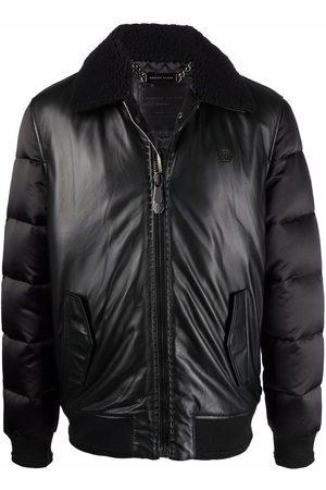 Philipp Plein Padded-leather bomber jacket