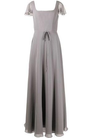 Marchesa Notte Senhora Vestidos de Festa - Flutter-sleeve bridesmaid gown