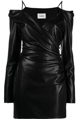 Nanushka Ruched-detail off-shoulder dress