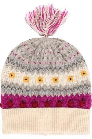 Familiar Intarsia apple motif beanie hat