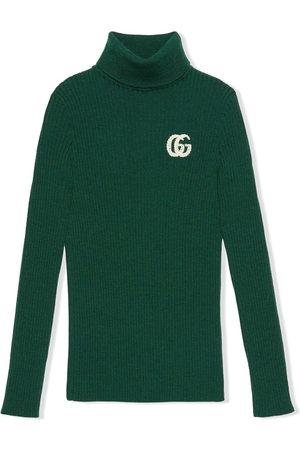 Gucci GG logo-knit turtleneck jumper