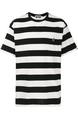 A Bathing Ape Stripe-pattern cotton T-shirt