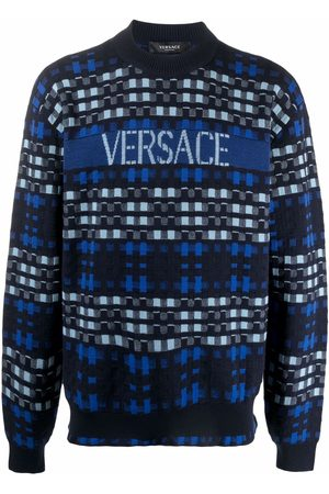 Versace Tartan-jacquard jumper