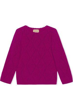 Gucci Menina Tops de Cavas - GG-stitch wool jumper