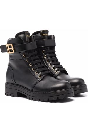 Balmain B-logo combat boots