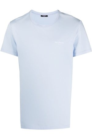 Balmain Homem T-shirts & Manga Curta - Logo-print short-sleeve T-shirt
