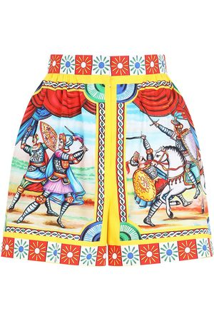 Dolce & Gabbana Graphic-print high-waisted shorts