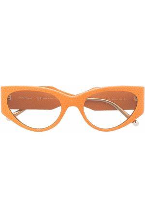 Salvatore Ferragamo Cat-eye tinted sunglasses