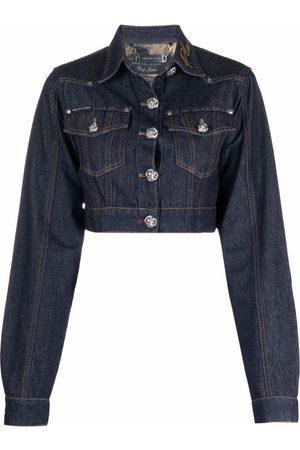 Philipp Plein Chains cropped denim jacket