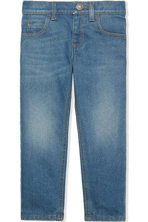 Gucci Menina Jeans - Embroidered-logo denim jeans