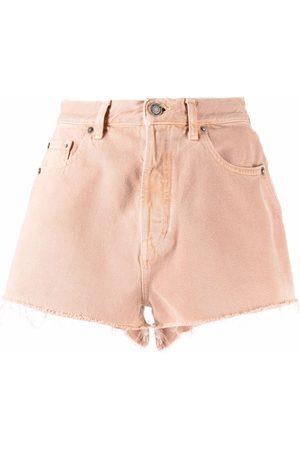 Saint Laurent Vintage-effect denim shorts