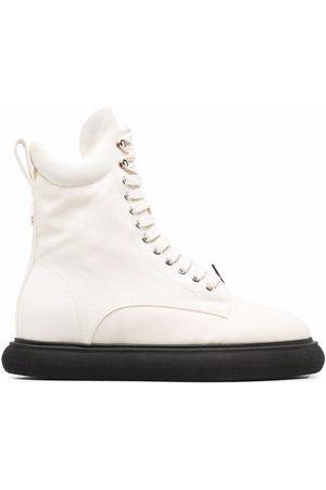 The Attico Senhora Botas com Atacadores - Selene lace-up chunky-sole boots