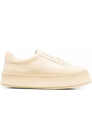 Jil Sander Leather chunky-sole trainers