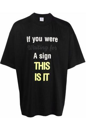 Vetements Slogan-print T-shirt