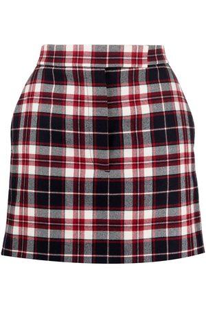 Thom Browne Tartan check wool mini skirt