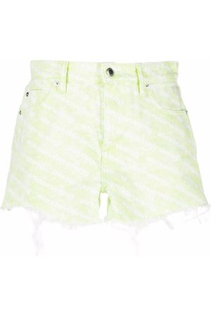 Alexander Wang Bite logo-print denim shorts