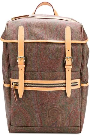 Etro Homem Mochilas - Paisley print backpack