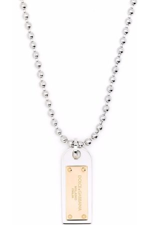 Dolce & Gabbana Two-tone military dog tag necklace