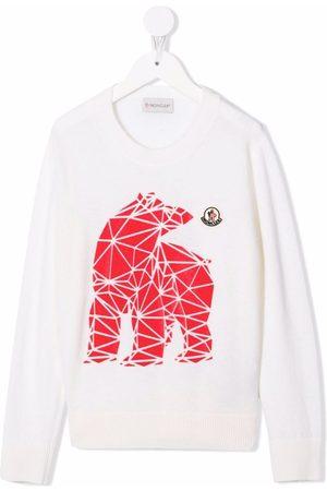 Moncler Menino Tops de Cavas - Geometric bear-print jumper