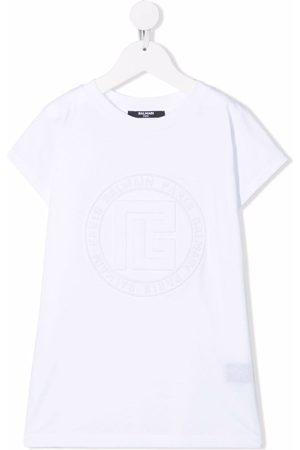 Balmain Logo-embossed T-shirt dress