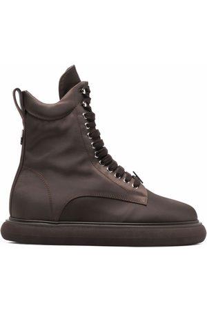 The Attico Selene lace-up chunky-sole boots