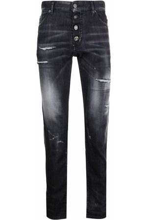 Dsquared2 Faded-effect slim-fit jeans