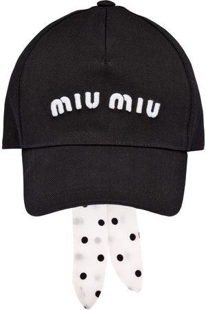 Miu Miu Embroidered-logo baseball cap