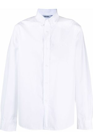 Kenzo Homem Formal - Tiger-embroidered cotton shirt