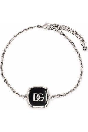 Dolce & Gabbana Homem Pulseiras - Logo plaque bracelet