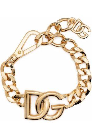 Dolce & Gabbana Homem Pulseiras - Oversize logo curb chain bracelet