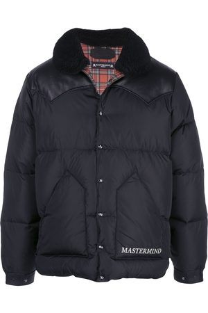 MASTERMIND JAPAN Leather-panelled puffer coat