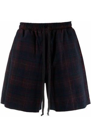 Alchemy Tartan-check print shorts