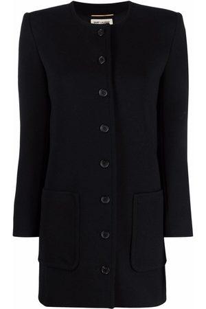 Saint Laurent Collarless buttoned jacket