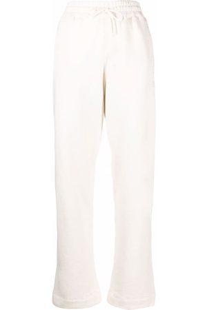 Ganni Logo-embroidered sweat pants