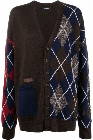 Dsquared2 Patch-work knit cardigan