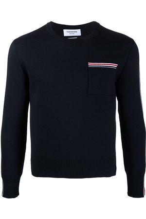 Thom Browne Signature stripe trim jumper