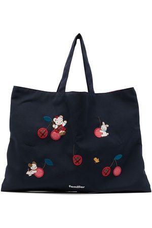 Familiar Menina Malas - Embroidered-patch shoulder bag