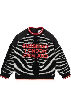 Burberry Embroidered-logo fleece jumper