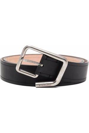 Acne Studios Cintos - Engraved-logo buckle belt