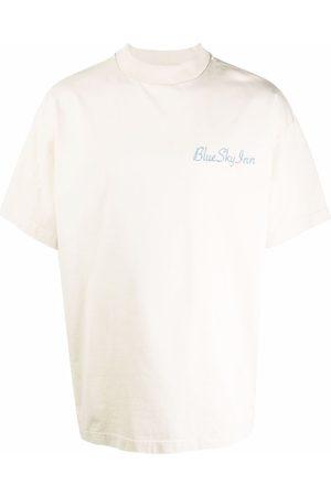 BLUE SKY INN Homem T-shirts & Manga Curta - Logo-print short-sleeved T-shirt