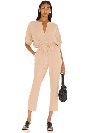 ATM Anthony Thomas Melillo Georgette Jumpsuit in - Tan. Size L (also in XS, S, M).