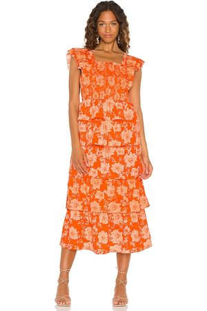 Saylor Linley Maxi Dress in - Orange. Size L (also in S, XS, M).