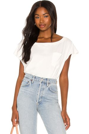 Free People Road Trip Bodysuit in - White. Size L (also in M, XL, XS, S).