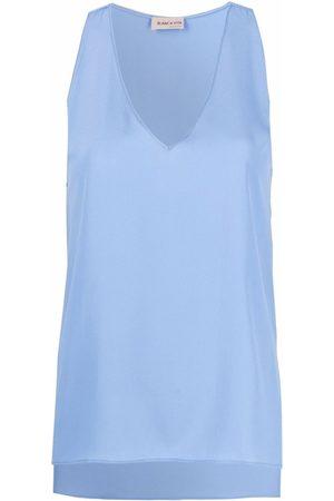 BLANCA Senhora Tops de Cavas - V-neck vest top