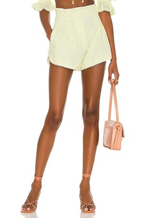 MAJORELLE Thalia Shorts in - Lemon. Size L (also in XXS, XS, S, M, XL).