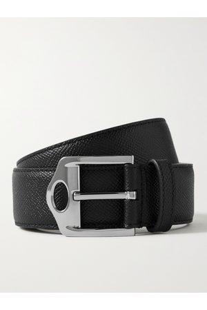 Burberry 3.5cm Pebble-Grain Leather Belt