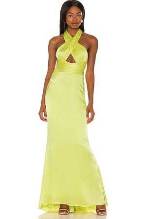 NBD Edith Gown in - Yellow,Green. Size L (also in XXS, XS, S, M, XL).