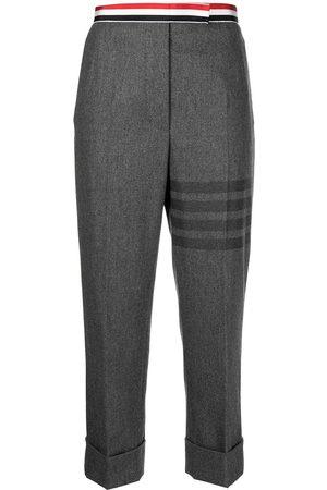 Thom Browne Senhora Calças Formal - 4-Bar motif tailored trousers