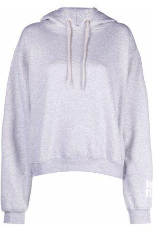 Alexander Wang Senhora Tops de Cavas - Logo-print drawstring hoodie